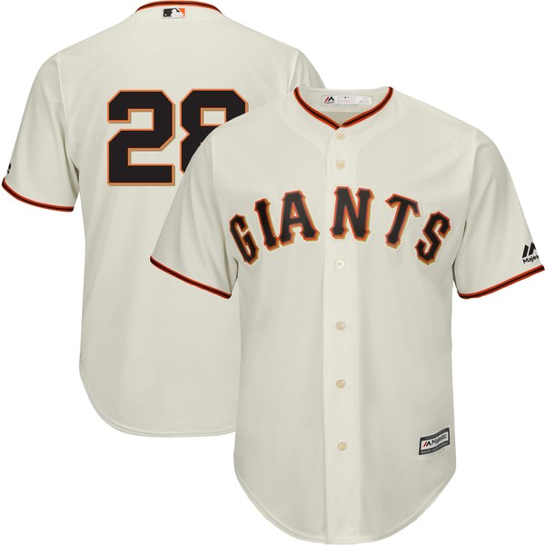 Men's San Francisco Giants Buster Posey Majestic Cream Official Team Cool Base Player Jersey