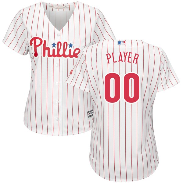 Women's Philadelphia Phillies Majestic White/Scarl super bowl jerseys colors 2019
