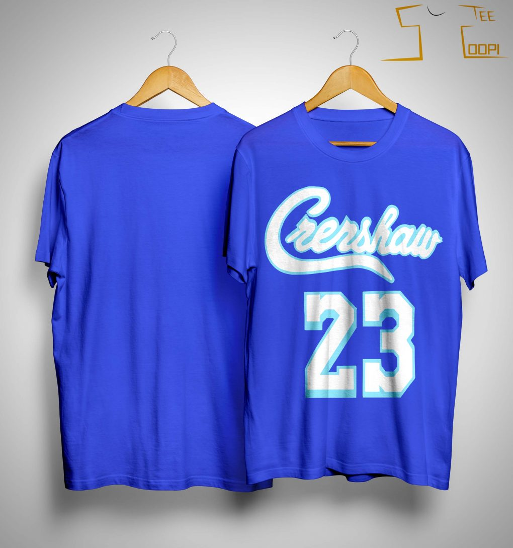 Crenshaw #23 LeBron James Blue T-Shirt wholesale Warriors jersey Discount